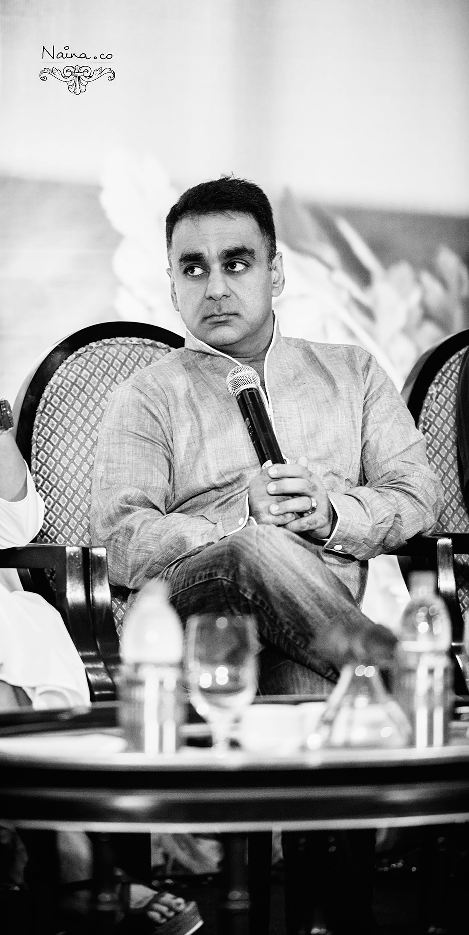 Chef Vineet Bhatia of Rasoi at the CSSG Gastronomy Summit, 2012 photographed by photographer Naina Redhu of Naina.co