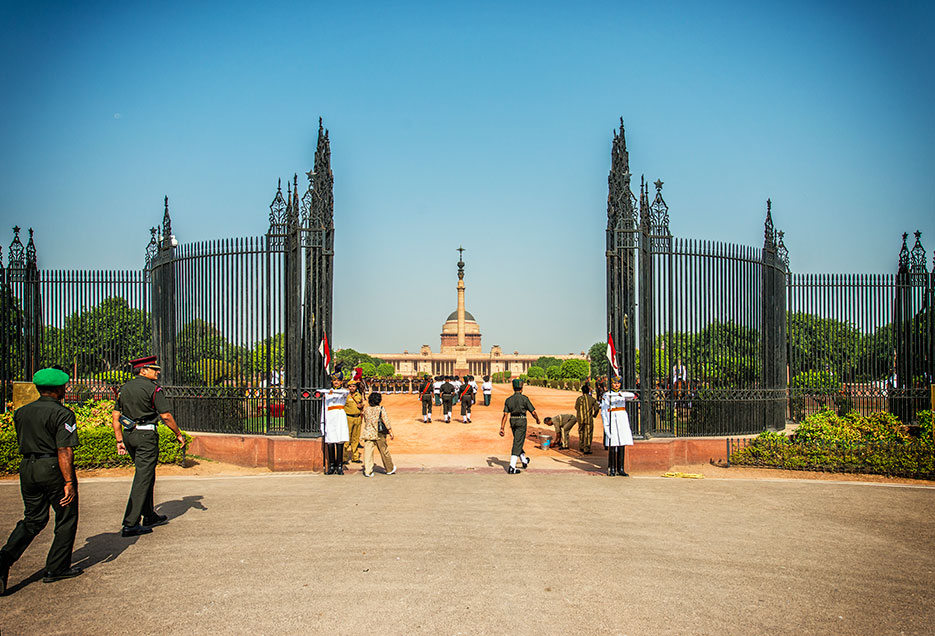 Rashtrapati Bhavan : Presidential House, New Delhi, India. Guard change ceremony. Architecture & Portraiture photography by professional Indian lifestyle photographer Naina Redhu of Naina.co
