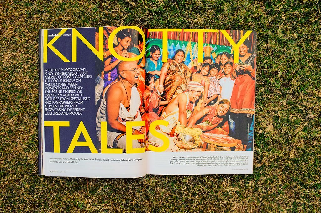 Marie Claire India Magazine : Opening Story, Knotty Tales, October 2012 : Indian wedding photographer Naina Redhu