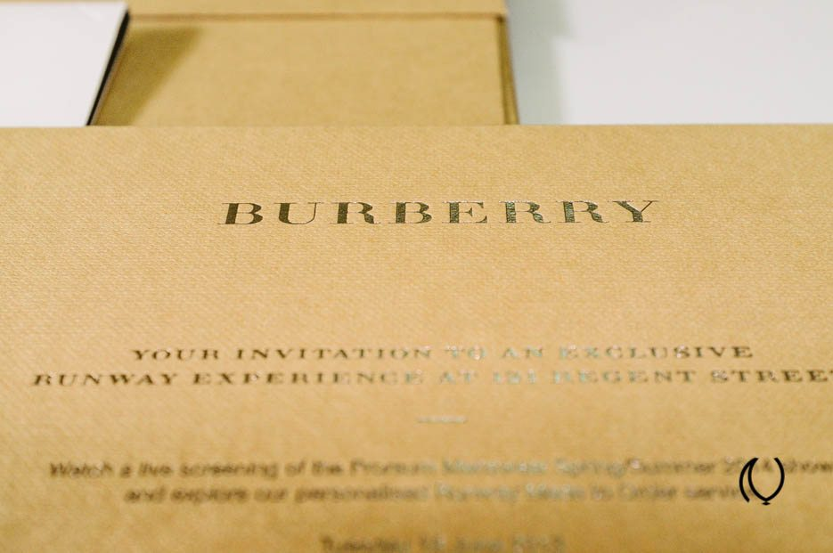 Burberry Prorsum Menswear Spring Summer 2014 Kensington Gardens London UK British Fashion Luxury Lifestyle Photographer Brand Storyteller Naina.co Invite Stationery