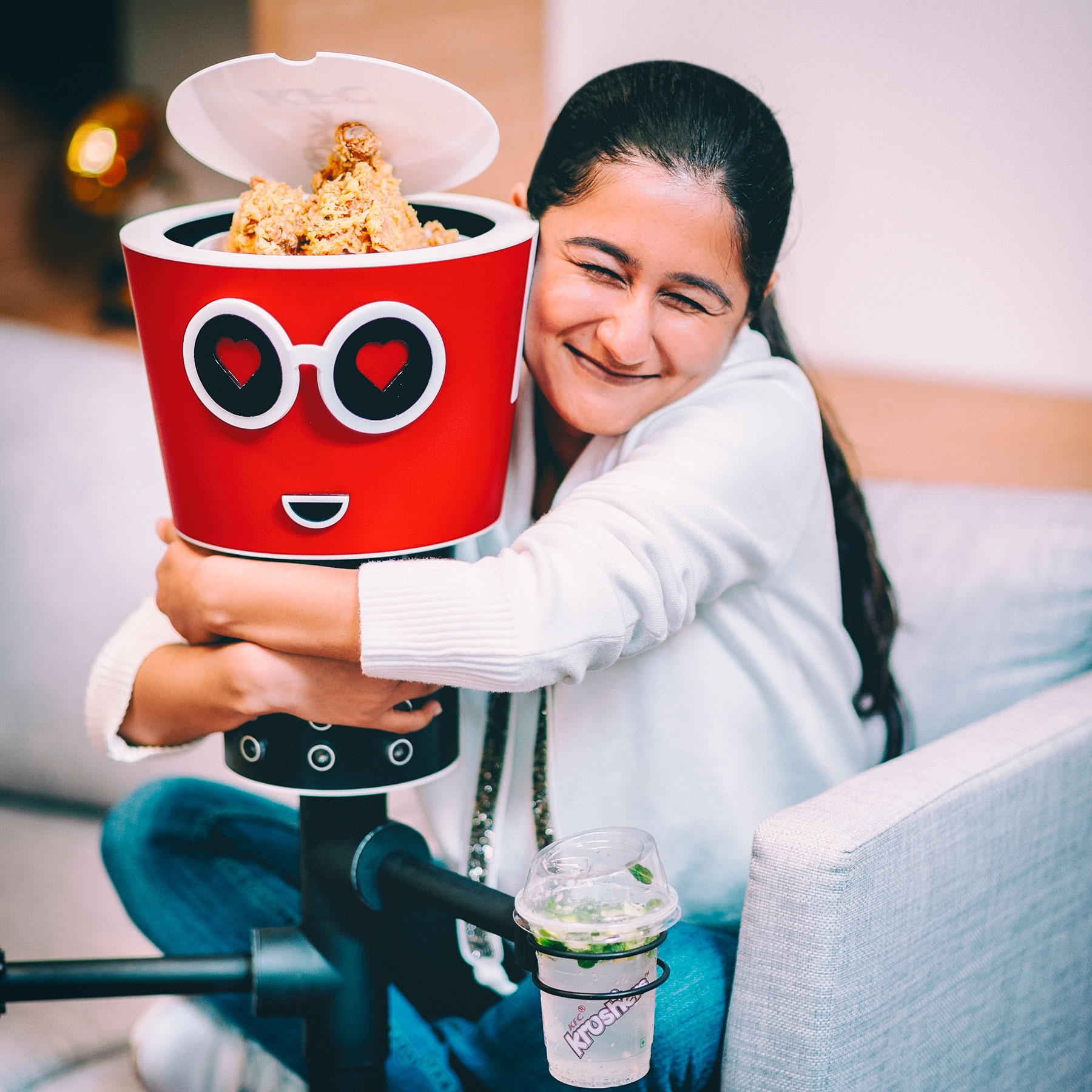 Naina.co, Naina Redhu, KFCBucketBae, BucketBae, KFC, Kentucky Fried Chicken, Yum, Bucket Bae, Bluetooth, Chicken, Valentine, Valentine's Day, Photography Client, Photography Assignment, Instagram Photos, Love, Chicken Love, Finger Lickin Good, KFC, KFCIndia, KFC Robot