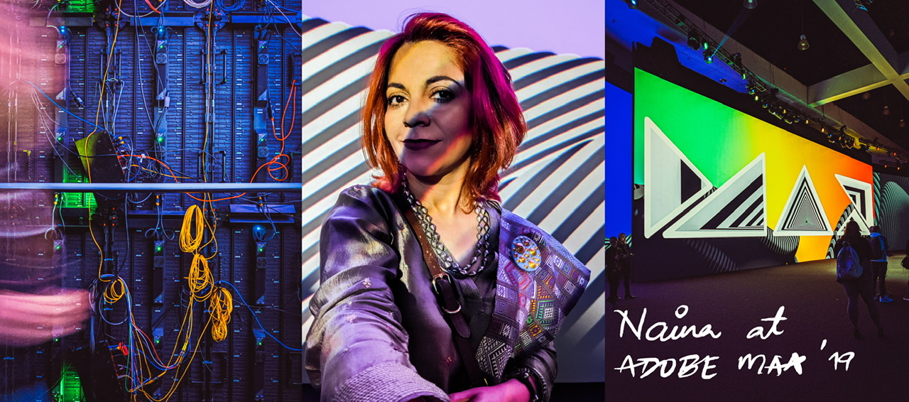 Adobe Max 2019, Naina Redhu, Naina.co, Los Angeles, LACC, Los Angeles Convention Center, AdobeInsiders, NAINAxADOBE, AdobePartner, Creativity Conference