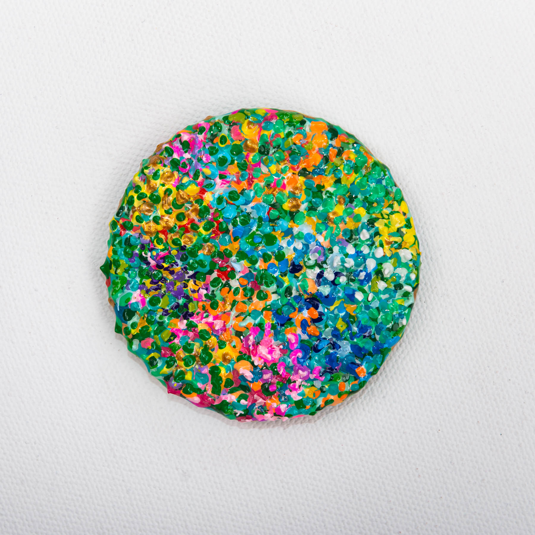 Bauerngarten, Gustav Klimt, Impressionism, Impressionist, Naina.co, Naina Redhu, KhaosPhilos, surreal, colorful, flower garden, 2.5 inch brooch, wearable art brooch, wooden brooch, wear a painting, wearapainting, wearableart, wear art, art i can wear, art you can wear, acrylic painting, hand painted, indian artist, indian female artist, contemporary art, modern artist, indian contemporary art, indian contemporary artist, contemporary art india, impressionism in india, flowers, garden, 1906,