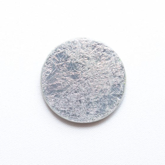 silver smilver, silver, silver foil, metallic, 2.5 Inches Diameter, Naina.co, Naina Redhu, KhaosPhilos, colorful, wearable art brooch, wooden brooch, wear a painting, wearapainting, wearableart, wear art, art i can wear, art you can wear, acrylic painting, hand painted, indian artist, indian female artist, contemporary art, modern artist, indian contemporary art, indian contemporary artist, contemporary art india